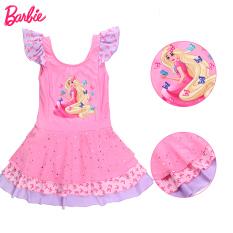 Ukuran Anak Perempuan Siam Lucu Putri Gaya Rok Baobao Children Pakaian Renang Baju Renang (802 Merah Muda)