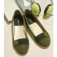 Spesifikasi Ully Vega Ballet Flat Shoes Dark Green Ully Vega