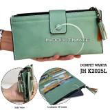 Ultimate Dompet Wanita Jh K2025L Green Dompet Cewek Cewe Kartu Atm Panjang Lipat Kulit Import Murah Lucu Murah