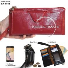 Ultimate Dompet Wanita HM-0369 - Red / Dompet Cewek / Cewe Kartu ATM Panjang Lipat Kulit Import Murah Lucu