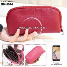 Ultimate Dompet Wanita HM-666-1 - Red / Dompet Cewek / Cewe Kartu ATM HP Panjang Kulit Import Murah Lucu