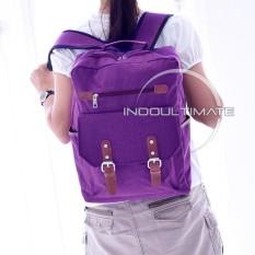 Ultimate Tas Pria JS-108 - Purple / Backpack Anak Cewek Sekolah Remaja Korea Import  Batam Murah Branded Cantik / Ransel Laptop Perempuan Wanita / Tas Sekolah Anak