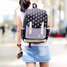 Obral Ultimate Tas Backpack Pria Wanita Kanvas Punggung Ransel Kuliah Korean Bag Js 605 Black Murah