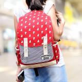 Toko Ultimate Tas Backpack Pria Wanita Kanvas Punggung Ransel Kuliah Korean Bag Js 605 Red Murah Jawa Barat