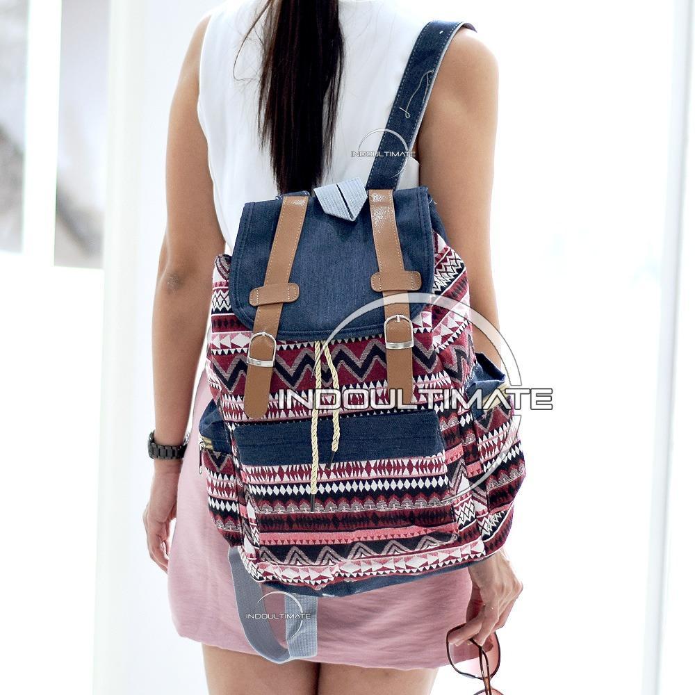 ULTIMATE Tas Backpack Unisex Pria Wanita   Punggung   Ransel Kuliah Fancy  Etnic   Tas Sekolah 6408f1b6b3