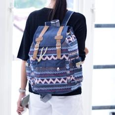 Review Toko Ultimate Tas Backpack Unisex Pria Wanita Punggung Ransel Kuliah Fancy Etnic Korean Bag Js 017 12 Blue Cream Online