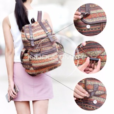Ultimate Tas Backpack Unisex Pria Wanita / Punggung / Ransel Kuliah Fancy Etnic / Tas Sekolah Anak / Korean Bag JS-1031 - Brown