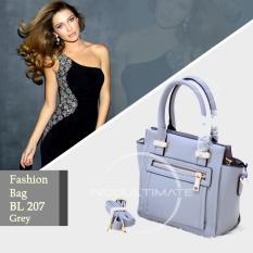 Toko Ultimate Tas Wanita Bl 207 Grey Tas Korea Cantik Import Batam Murah Branded Elegant Top Handle Bag High Quality Terlengkap