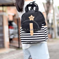 Jual Ultimate Tas Korean Style 3In1 Pria Wanita Kanvas Unisex Selempang Jinjing Ransel Fancy Star Kk 101 Black Ultimate Original