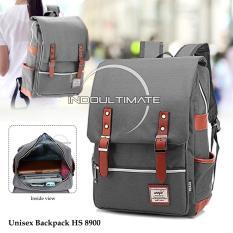 Ultimate Tas Wanita HS-8900 - Gray / Backpack Anak Cewek Sekolah Remaja Korea Import  Batam Murah Branded / Tas Laptop Perempuan Cantik