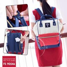 Ultimate Tas Ransel Wanita FS-90546 - Red White Blue / Tas Sekolah Anak / Tas 2in1 Cewek Backpack Korea Import Batam Murah Branded Cantik