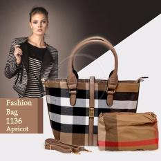 Jual Beli Ultimate Tas Wanita 2In1 Top Handle Bag Tas Branded Wanita High Quality Korean Tas Fashion Korean Elegant Bag Style 1136 Apricot