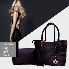 Beli Ultimate Tas Wanita 2In1 Top Handle Bag Tas Branded Wanita High Quality Korean Tas Fashion Korean Elegant Bag Style 209 Black Dengan Kartu Kredit