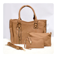 Beli Ultimate Tas Wanita 3In1 Top Handle Bag Tas Branded Wanita High Quality Korean Tas Fashion Korean Elegant Bag Style 219 Apricot Pake Kartu Kredit