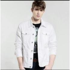 Ultimoshion Jaket Jeans Pria Putih Jaket Denim Putih Indonesia
