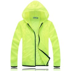 Review Tentang Ultra Light Ultra Thin Waterproof Without Pressure Breathable Raincoat Outdoor Riding Windbreaker Jacket Light Green Intl