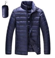 Harga Ultralight Down Jackets 2017 Laki Laki Berdiri Kerah Duck Down Jacket Light Tipis Musim Gugur Musim Dingin Solid Kasual Mantel Outwear Plus Ukuran Navy Blue Intl Oem Online