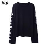 Beli Ulzzang Gaya Gothic Huruf Bagian Panjang T Shirt 16011 Lengan Panjang T Hitam Baju Atasan Kaos Pria Kemeja Pria Murah