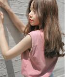 Harga Ulzzang Gaya Kampus Merah Muda Musim Panas Katun Kaos Leher Bulat Tanpa Lengan Vest Merah Muda Warna Yang Murah Dan Bagus