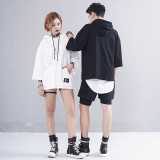 Harga Ulzzang Kaos Sweater Selutut Lengan Hoodie Hip Hop Angin Laki Laki Hitam Online Tiongkok