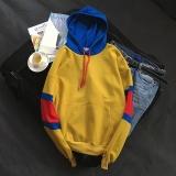 Toko Ulzzang Jahitan Siswa Tutup Kepala Hoodie Berkerudung Kaos Sweater Kuning Online