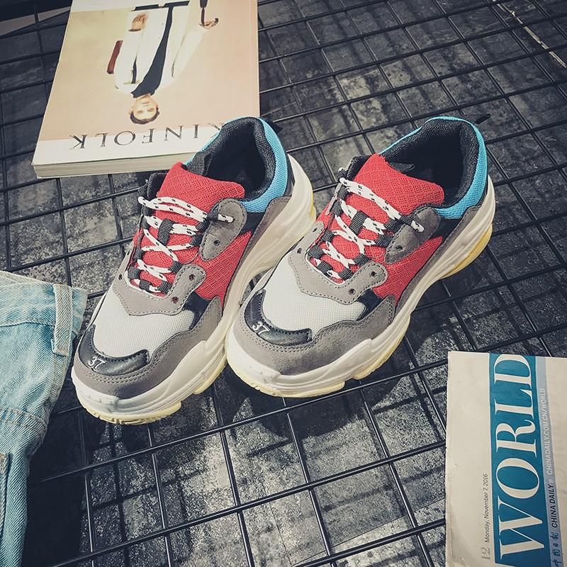 Beli sekarang 2018 Model Baru Musim Semi Versi Korea Ulzzang Murid Sepatu  Olahraga Wanita Harajuku Pasangan Netral Sepatu Kasual OLdPAPA Sepatu  terbaik ... 8f47f43ccc