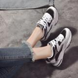 Jual Ulzzang Korea Fashion Style Perempuan Musim Semi Bernapas Sepatu Olahraga Sepatu Hitam Original