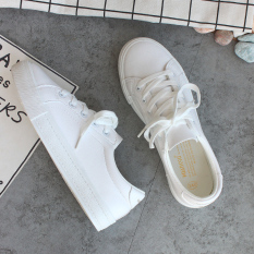 Harga Ulzzang Wild Leather Students Casual Shoes White Shoes Putih Origin