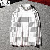 Katalog Ulzzang Retro Hitam Dan Putih Bergaris Kerah Tinggi Lengan Panjang T Shirt 603 Bergaris Hitam Dan Putih Lengan Panjang Putih Baju Atasan Kaos Pria Kemeja Pria Oem Terbaru