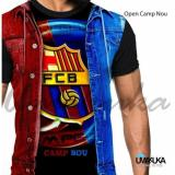 Umakuka Kaos 3D Pria Dewasa Full Print Barcelona Open Camp Nou Umakuka Diskon