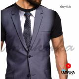 Promo Umakuka Original Kaos 3D Pria Wanita Dewasa Full Print Suit Jaz Grey Dki Jakarta