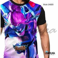 Toko Umakuka 3D Kaos Pria Dewasa Full Print Mobile Legend Saber Online
