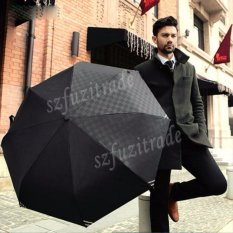 Ulasan Lengkap Tentang Umbrella Gentlemen Foldable Collapsible Men Business Auto Umbrella Plaid Slap Up Black Intl