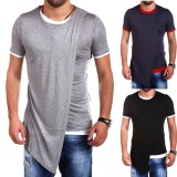 Jual Unbalance Turtle Shirring Pocket Short Sleeve T Shirt Mens Fashion Clothing For An Attractive Guy Look Mens Tops Tees Black Men Size M Intl Di Hong Kong Sar Tiongkok