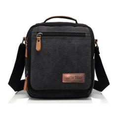 Harga Uncle Star Men Canvas Bag Vintage Messenger Business Handbags Casual Tas Slempang Pria Import Ucs03 Black Tas Import Baru