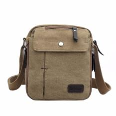 Promo Uncle Star Men Messenger Bag Canvas Vintage Shoulder Crossbody Bags Tas Slempang Ucs04 Coklat Muda Akhir Tahun