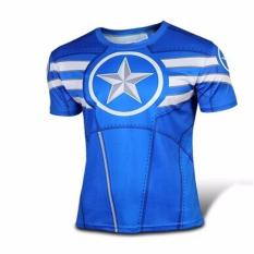 Jual Under Armour Baselayer Captain America Short Sleve Blue Under Armour Branded