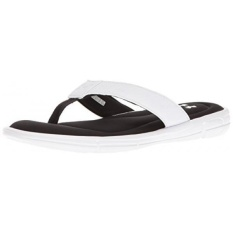 Under Armour Mens Ignite II Sandals, White/Black, 8 D US - intl