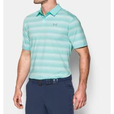 Under Armour UA CoolSwitch Bermuda Stripe - Hijau - Kaos Polo Original - Kaos Golf - Baju Golf