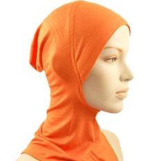 Di Bawah Syal Hat Muslim Wanita Jilbab Islam Kepala Memakai Leher Cover Orange-Intl