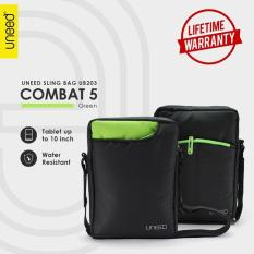 Beli Uneed Combat 5 Tas Selempang Pria Universal Tas Sling Bag For Tablet 10Inch Water Resistant Ub203 Hijau Kredit