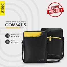 Review Uneed Combat 5 Tas Selempang Pria Universal Tas Sling Bag For Tablet 10Inch Water Resistant Ub203 Kuning Terbaru