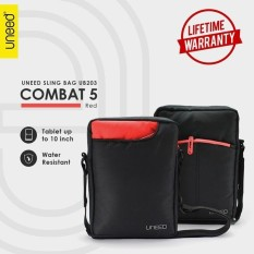 Beli Uneed Combat 5 Tas Selempang Pria Universal Tas Sling Bag For Tablet 10Inch Water Resistant Ub203 Merah Dki Jakarta