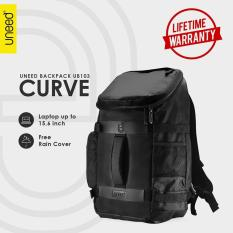 Obral Uneed Curve Tas Backpack Pria Tas Ransel For Laptop 15 6Inch Ub103 Hitam Rain Cover Murah