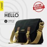 Toko Uneed Hello Tas Selempang Pria Messenger Bag Ub209 For Tablet 10 Inch Hitam Uneed