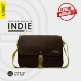 Model Uneed Indie Tas Selempang Pria Universal Messenger Bag Ub210 For Tablet 10 Inch Brown Terbaru