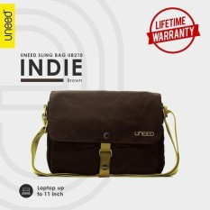 Diskon Uneed Indie Tas Selempang Pria Universal Messenger Bag Ub210 For Tablet 10 Inch Brown