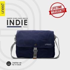 Harga Uneed Indie Tas Selempang Pria Universal Messenger Bag Ub210 For Tablet 10Inch Navy Blue Asli Uneed