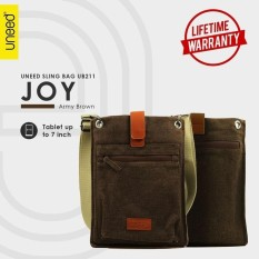 Beli Uneed Joy Tas Selempang Pria Universal Tas Sling Bag For Tablet 7 Inch Water Resistant Ub211 Army Brown Kredit