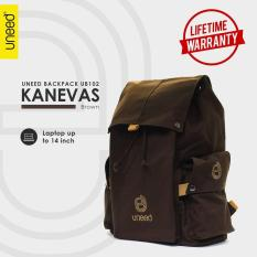 Iklan Uneed Kanevas Tas Backpack Pria Tas Ransel Tas Laptop 14Inch Original Brown